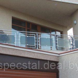 Балконное ограждение со стеклом Н-ОБ-13