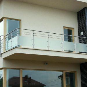 Ограждение балкона со стеклом Н-ОБ-2
