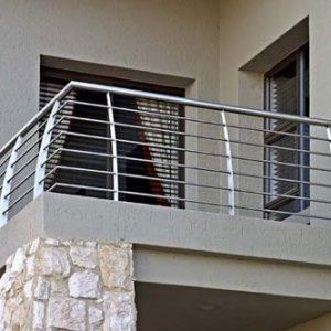 Балконное ограждение с 6 ригелями Н-ОБ-3