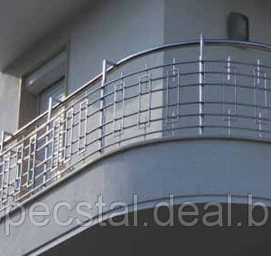 Ограждение балкона с 6 ригелями Н-ОБ-9