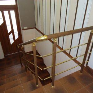 Перила лестничные с деревянным поручнем Н-ПДП-16