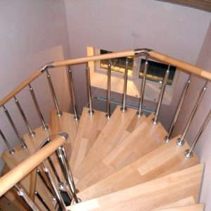 Перила лестничные с деревянным поручнем Н-ПДП-18