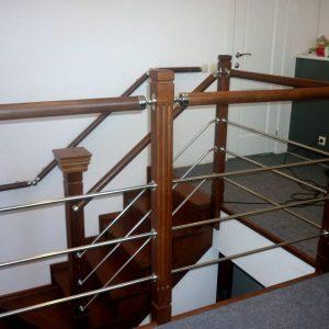Перила лестничные с деревянным поручнем Н-ПДП-20