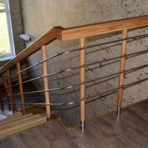 Перила лестничные с деревянным поручнем Н-ПДП-22