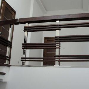 Перила лестничные с деревянным поручнем Н-ПДП-24
