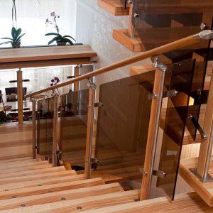 Перила лестничные с деревянным поручнем Н-ПДП-28