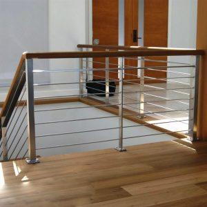 Перила лестничные с деревянным поручнем Н-ПДП-29