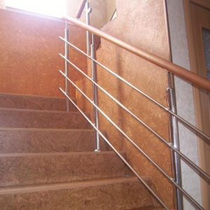 Перила лестничные с деревянным поручнем Н-ПДП-6