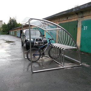 Велопарковка с крышей на 9 мест Н-ВЕ-15